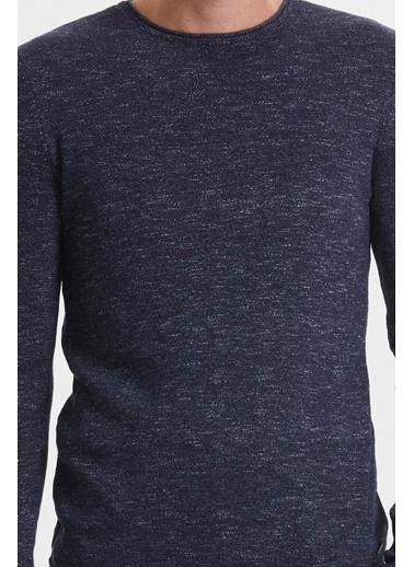 Loft Loft Desenli Uzun Kollu İndigo Erkek Sweatshirt İndigo
